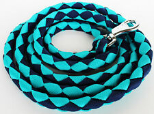 10' ft Heavy Duty Horse Halter Lead Rope Snap Teal Navy 60530