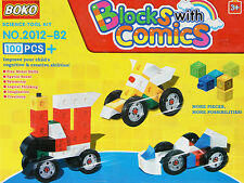 NUOVO 100pcs CREATIVE BRICKS AUTO Mattoni Blocchi Kids Bambini Playset