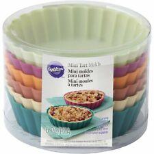 Wilton Silicone Mini Tart & Pie Molds, 6 Count, 2105-5587
