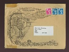 WALES MACHINS PRINTED MATTER HOPKINS STAMP AUCTION ILLUSTRATED ENVELOPE 1981
