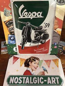 VESPA Sign From Nostalgic Art