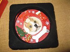 PITBULL dog ORNAMENT Christmas puppy Pit Bull personalize pet bone tree