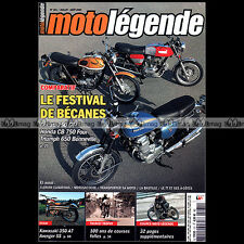 MOTO LEGENDE N°181-b HONDA CB 750 FOUR KAWASAKI 350 AVENGER A7 MOTOSACOCHE M35