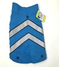 TOP PAW 2 in 1 BLUE Pet Sweater and Coat Reflective Chevron Medium Dog