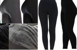 PLUS SIZE Ladies Leggings   Thermal  Waist Thick Warm Fleece Fitness  Trousers