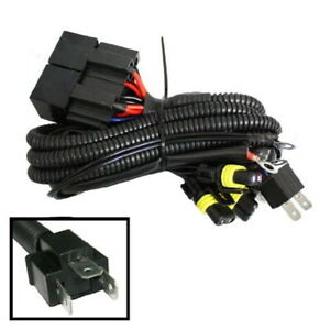 Xenon Headlamp Kit Dual-Relay Wiring Harness for H4 9003 HB2 Hi/Lo 4 Lamps