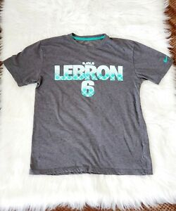 Youth Nike Lebron James Witness Dri-Fit T-Shirt Top Gray  size M