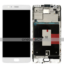 """5.5"""" OnePlus 3 1 3 A3000 White AMOLED Touch Digitize LCD Display Assembly Frame"""