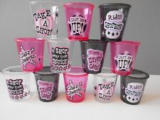12 x Shot Glass Girls Night Out Hen Party Accessories Fun Drinking Game NEW
