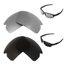 Walleva Polarized Titanium + Black Lenses For Oakley Flak 2.0 Sunglasses