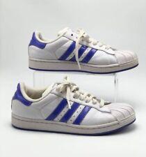 Adidas SuperStar Shell Toe White Blue Stripes Women's Sz 6 38