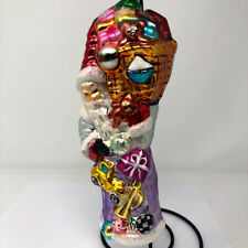 Christopher Radko Blown Glass Toys For All Tall Santa Christmas Ornament 1996