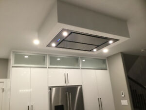 "Victory Sky 43.5"" x 27.5"" Stainless steel ceiling mount range hood, Watch VIDEO"