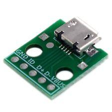 10Pcs Micro-Usb A Dip Adaptador 5Pin Conector Hembra Tipo B Convertidor Pcb E9K4