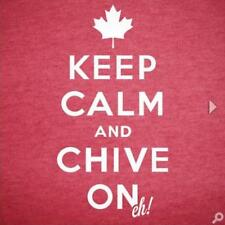 Authentic Canadian Keep Calm and Chive On Eh! Tee- KCCO - Women's Size Large