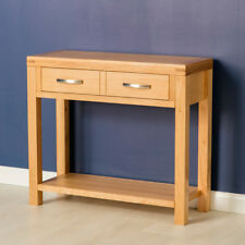 Abbey Light Oak Large Hall Table / Console Table / Solid Wood Telephone / New