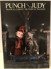 Percy Press Snr Punch And Judy Promotional Card Puppets Harrison Birtwistle 1980