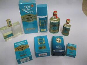 Konvolut 9 Teile 4711 echt Kölnisch Wasser: Seifen, Eau de cologne, Vaporisateur
