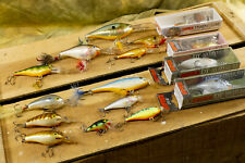 16 Rapala Balsa Crankbait Fishing Lures - Risto Rap, DT-10, Fat-Rap, SSR-5
