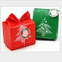 50pcs/Lot Christmas Candy Bag Gift Cookie Pouch Party Xmas Decoration Snowflake