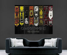 GAME OF THRONES POSTER HOUSE BANNER WALL ART MAP TV SERIES IMAGE HUGE LARGE