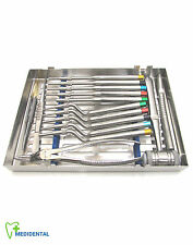 Dental Implants Instruments Kit Osteotomes Offset Debakey Forceps Castroviejo CE