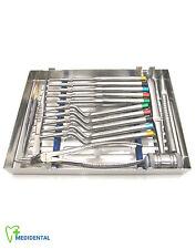 Dental Implantology Instruments Kit of 15 Osteotomes Debakey Forceps Castroviejo
