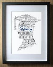 Personalised Graduation Gift for Boys Word Art - Boy - Degree Gift Graduates