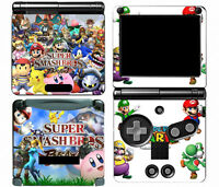 Super Smash Bros 115 Vinyl Decal Skin Cover Sticker for Game Boy Advance GBA SP