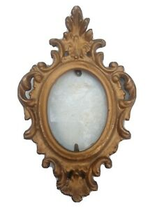 """Vintage Victorian style gold photo frame picture  4"""" wall hanging"""