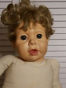 """Vintage Hasbro Real Baby Doll J Turner 1984 Open Mouth Vinyl Cloth Body 20"""""""