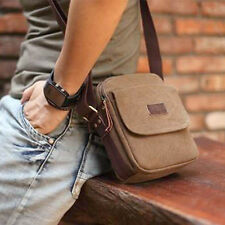 Coffee Men's Vintage Canvas Bag Small Messenger Shoulder Bag Classic Fast