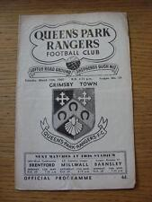 10/03/1962 Queens Park Rangers v Grimsby Town  (Creased, Folded, Score(rs) Noted