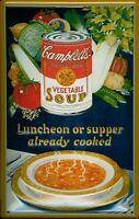 Campbells Vegetable Soup Letrero de Metal 3D en Relieve Cartel Lata 20 X 30CM