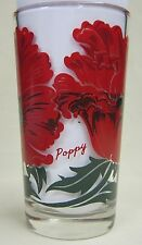 Poppy  Peanut Butter Glass Glasses Drinking Kitchen Mauzy 87-1