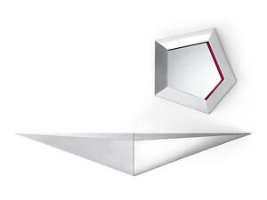Angled Modern Wall Mounted Console Shelf (Left-hand or Right-hand)