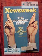 NEWSWEEK magazine January 31 1972 1/31/72 Richard NIXON ECONOMY +++