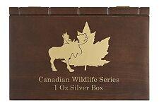 Canadian Wildlife Serie Münzbox / Box / Münzkassette für 6x 1 Oz Silber - HOLZ