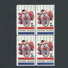 Circus Clown Lou Jacobs - Vintage Mint Set of 4 Stamps 51 Years Old!