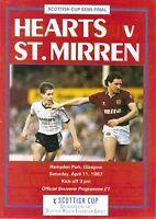 1987 SCOTTISH CUP SEMI-FINAL - HEARTS v ST MIRREN