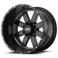 "20"" Black Wheels Wheels Rims LIFTED Dodge RAM 1500 Truck Moto Metal MO962 20x12"