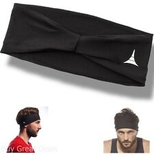 Sporty Touch 4In Wide Men Headband / Sweatband Best for Sports, Running, Workout