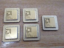LOT OF 5pcs -  R80186   -  VINTAGE , GOLD , CPU - MAKE: AMD