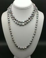 Genuine Baroque Pearl Necklace Triple Strand Vintage Hybrid Choker With Earrings
