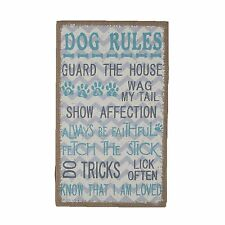 Dog rules gog owner gift Box frame Plaque Sign Words Saying
