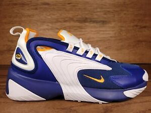 Men's Nike Zoom 2K Running Shoes Royal Blue Yellow White AO0269-400 Size 10