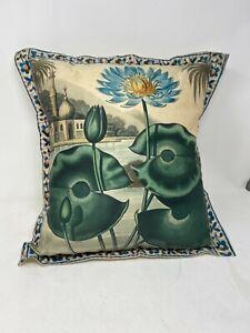 "Anthropologie Lazybones Lotus Pillowcase & pillow 100% Organic Cotton 18"" x18"""