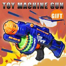 Nerf Rapid Fire Machine Gun Rifle Blaster Toy Gun Soft Bullets Darts Kids Play