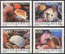 Yugoslavia 1988 Sea Shells/Marine/Nature/Molluscs/Snails/Sealife 4v set (s759)