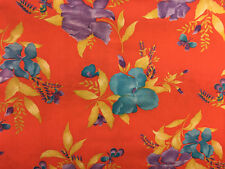 2 Continuous Yards Floral Fabric Large Scale Iris 72 x 44
